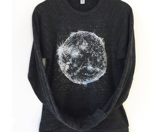 Sun Sweatshirt, Adult Space Shirt, Solar System, Science shirt, monochrome tee astronomy sweatshirt, space gift for science teacher parents