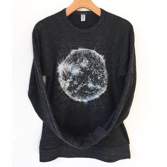 Sun Sweatshirt Adult Space Shirt Solar System Science
