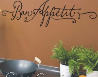 Bon Appetite - French kitchen wall decal- Perfect for a home or a Restaurant!
