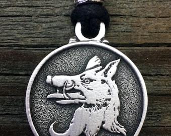 Medieval Boar Pewter Pendant