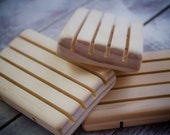 Set of 3 Natural Pine Soap dishes, Draining soap dish, Wooden Soap dish, Soap holder, soap stand, soap deck, Wooden Soap saver, Natural wood