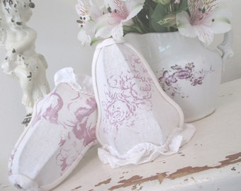 Vintage Lampshades * Lamp Shades * Cabbages and Roses * Shabby Chic * French Lilac