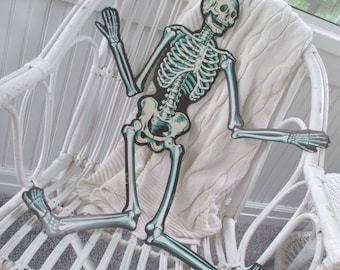 Vintage Beistle Skeleton * Jointed * Halloween * Wall Hanging