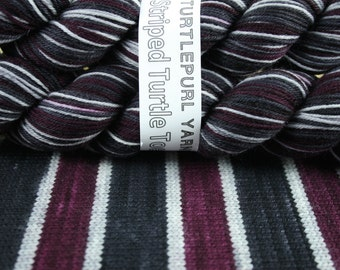 Gothic Plum - Hand-Dyed Self-Striping Sock Yarn