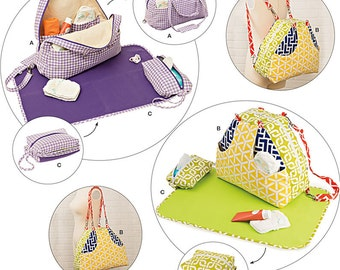 BABY ACCESSORIES PATTERN / Diaper Bag Shoulder Bag or Back Pack / Changing Pag