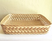 Beautiful Farmhouse Style Basket Tray Decorative Organization