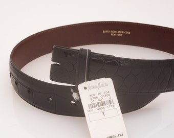 Black Alligator Barry Kieselstein Cord Belt - Vintage and New with Tags