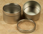50 Round Blank Metal Tins, Great Gift Tins for your Pendants and Magnets (17-96-170)