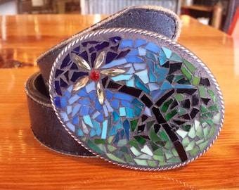 Floral XLarge Mosaic belt buckle