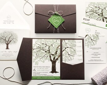 Reserved for Kathryn Werner, Balance of Oak Tree Invitations & Accessories