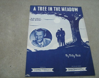 1947  vintage sheet music (  A tree in the meadow  )