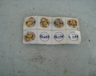 lot of 5 1960s gulf oil republican elephant lapel/tie pin