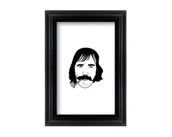4 x 6 Framed Bill The Butcher Cutting / Gangs of New York Portrait