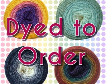 Gradient/Long Repeat Maki Yarn - Skinny Scrumpet MCN Light Fingering - Dyed to Order - Choose your colorway and yardage