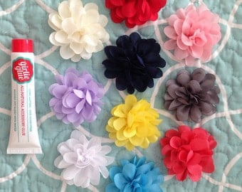 Flower set and hair accessory adhesive for baby flower girlie glue shower gift