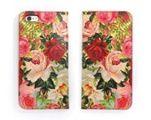 Leather iPhone 6 case, Galaxy S6 Case, iPhone 6s Case, iPhone 6s Plus Case, iPhone 5/5s Case - Decoupage Roses (Exclusive Range)