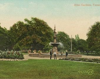 Vintage Postcard - Allan Gardens, Toronto - Early 1900s