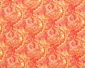COUPON Code Sale - Paisley, Orange, Creating New Traditions, Fabric Traditions, 100% Cotton Quilt Fabric, Quilting Fabric, SELECT A SIZE
