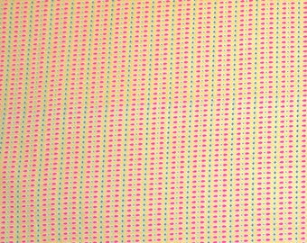 COUPON CODE SALE - Henry Glass, Nine Dots, Plaid, Yellow, Carrie Nelson, 100% Cotton Designer Quilt Fabric, Yellow Fabric
