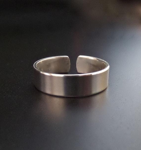 "3/8"" STERLING 1 Polished Ring Stamping Blank 18 Gauge Open Back 3/8 "" Wide Flat - Choose Size"