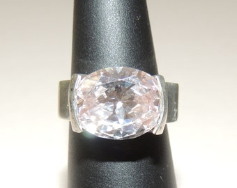 Sterling Silver 5ct CZ Ring size 6