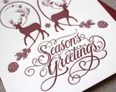 Letterpress Holiday Cards - Winter Deer