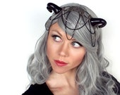 Black and Silver Dragon Headdress