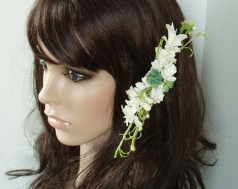 Spring Wedding, Bridal Headpiece, Hair Flower Clip