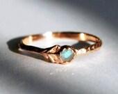 CUSTOM for Emily-Rose Gold & Labradorite or Moonstone Flower Ring