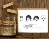 4 Generation Women Letterpressed Greeting Card