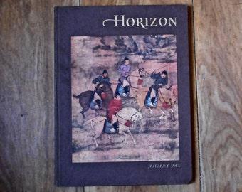 SALE 50% OFF  1961 Horizon Magazine - Hard Cover Magazine - Arts and Literature
