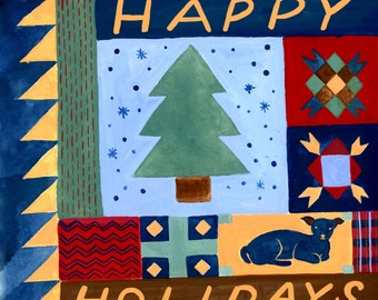 Happy Holidays Quilt Card
