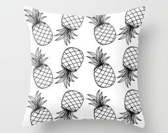 Pineapple Cotton Pillow | Throw Pillow | Pillow Case | Pillow Cover | Office Decor |  Home Decor | Statement Pillow