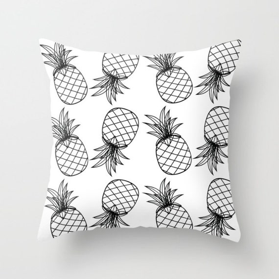 Pineapple Cotton Pillow | Throw Pillow | Pillow Case | Pillow Cover | Office Decor |  Home Decor | Statement Pillow