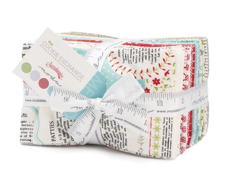 SUMMER SALE - The Cookie Exchange - Fat Eighths Bundle (33) - Sweetwater for Moda Fabric