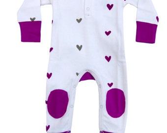 Organic Hearts Infant Romper
