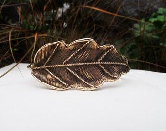Bronze Leaf Cuff Bracelet