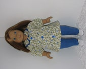 Blue Pants with Tunic Top, Fits 18 Inch American Girl Dolls