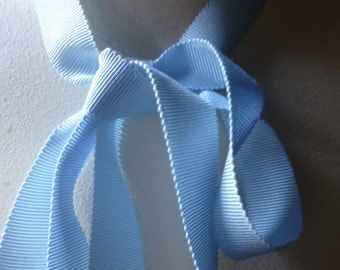 2 yds. 24mm Blue Ribbon Grosgrain Faille Petersham for Bouquets,  Millinery, Invitations