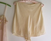 Vintage Silk Tap Pants/Panties High Waisted Peach Crepe de Chine with Embroidery and Button Closure