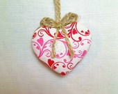 Pink/Red Heart Ornament | Valentines Day | Spring Decor | Party Favor | Valentine Decor | Tree Ornament | Holidays | Decoration | #3