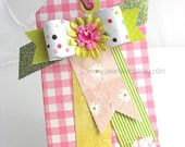 Whimsical Paper Bow XL Luxe Gift Tag~Hang Tag~Pretty Packaging~Deluxe gift tag~baby girl gift tag~birthday card~any occasion gift tag
