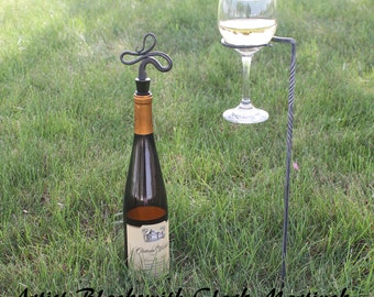 Wine glass holder SET OF 2 , outdoor accessories