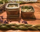 Smudging blend pure herbal loose incense mixture to cleanse and smudge your new home or space with sage cedar lavender and sweet grass