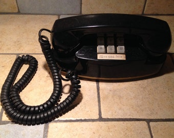 1983 Black Princess Touch Tone Telephone