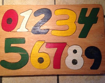Wooden Numeral Educational Tray Puzzle