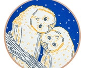 Night Owls Embroidery Kit
