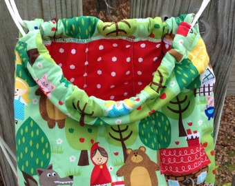 Quilted Backpack, Library Bag, Overnight Bag for Toddler Drawstring Closure,  Ready to ship