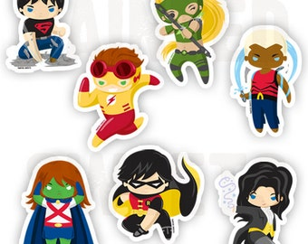 Young Justice Stickers