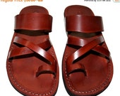 20% OFF Brown Bath Leather Sandals for Men & Women